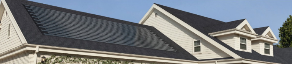 Solar Shingles Installed on Roof